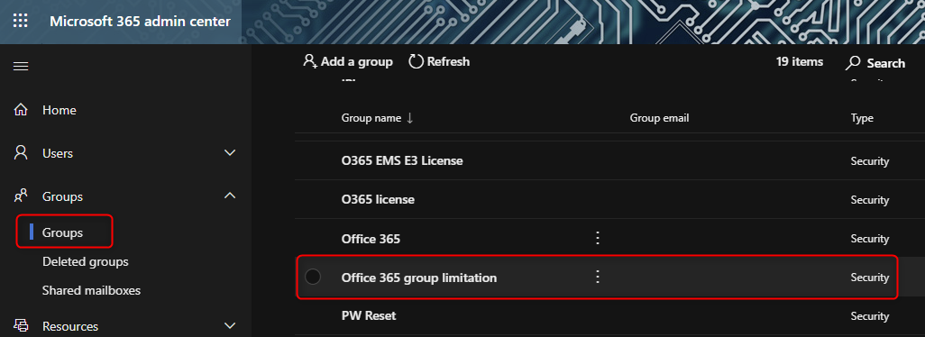 group creation